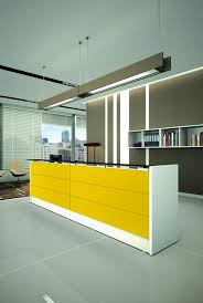 Yellow Reception Desk Corner Reception Desk Lacquered Wood Laminate Reception Miró