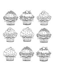 free coloring page coloring cute cupcakes cupcake sweets