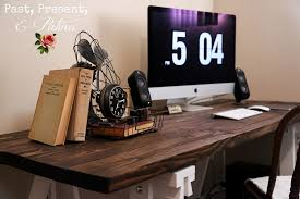 Making A Wooden Desktop by Diy Simple U0026 Sleek Rustic Desk U2014 By Kathi Arbiso