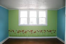 paint walls 2 different colors t wall decal painting walls 2