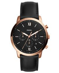fossil black leather bracelet images Fossil men 39 s chronograph neutra black leather strap watch 44mm tif