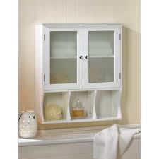 wooden medicine cabinet bathroom wall cabinet w glass wall mount