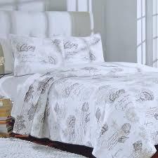 Tropical Bedspreads And Coverlets Coral Cove Coastal Script Nautical Quilt Set Coastal Bedding