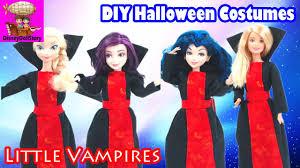 diy little vampires costumes for halloween descendants mal evie