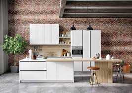 kitchen kitchen nice red bricks white minimalist cabinets nice