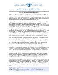 bureau de la coordination des affaires humanitaires le coordonnateur humanitaire au tchad est préoccupé par la