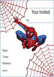 Free Invitation Birthday Cards Free Printable Spiderman Party Invitations On Www Thepartywebsite