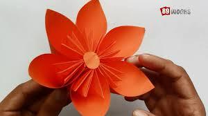 Origami Paper Works - origami paper folding kusudama flower work 01