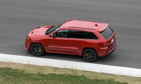 luxury jeep grand cherokee 2018 jeep grand cherokee trackhawk first drive review autonxt