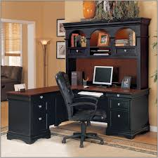 Computer Desk With Hutch Black by Black L Shaped Computer Desk With Hutch Desk Home Design Ideas