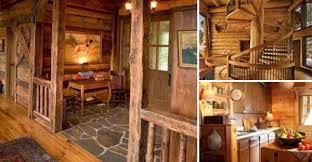 log cabin floors cool cabin entrance