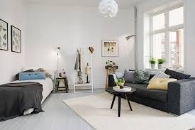 Designing A One Bedroom Apartment Delightful One Room Studio Apartment In Gothenburg Inspiring