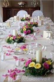 Hotel Flower Decoration Pink And Yellow Themed Wedding On Lake Orta Italy