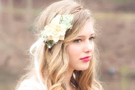 flower hair boho wedding wreath floral headpiece bridal flower crown