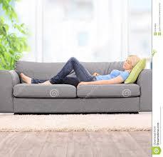 Sleeping On The Sofa Sleeping On The Sofa Stock Image Image 13795691
