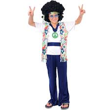 Halloween Costumes Girls 8 10 Hippie Dude Kids Costume 8 10 Amazon Uk Clothing