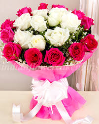 flowers bouquet send buy order n white roses flower bouquet online for home