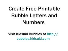printable bubble letters