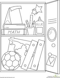 School Locker Worksheet Education Com Coloring Pages Middle School