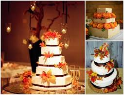 fall wedding cakes fall wedding cakes