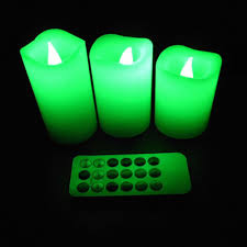 3 candle electric light 3 pcs set wax wireless remote control electric color changed led