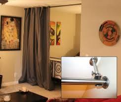 curtain rod graystone room divider kit 8 u0027h x 10 u0027w fabric curtain