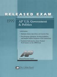 ap us gov exam 1999