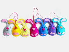 Easter Bunny Decorations Australia by Pdf Pattern Hopping Bunny Felt Easter Ornament By Imanufatti