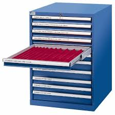 Precision Filing Cabinet 10 Drawer Tool Crib Storage Cabinet 09051178 Msc