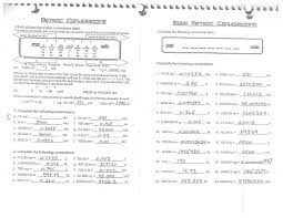 worksheets metric system conversion worksheet with answers