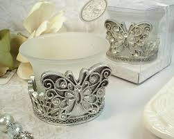 wholesale favors antique silver design butterfly tealight candle holder wholesale