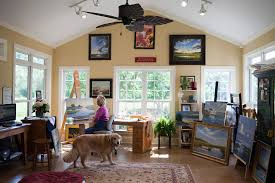 Art Studio Desk by Paula B Holtzclaw