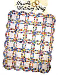 Double Wedding Ring Quilt by Twin Double Wedding Ring Quilt Kit Easy To Cut U0026 Easy To Sew At