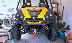 can am commander winch install youtube