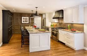 Kitchen Off White Cabinets Off White Kitchen Cabinets With Antique Brown Granite