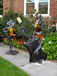 the of up cycling metal garden sensational scrap metal