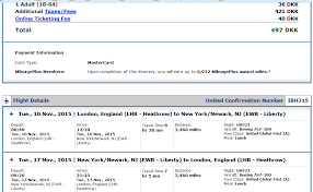 united airlines flight change fee london to newark in first class for 45 one way or 75 round trip