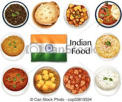 different indian cuisines different dish of indian food illustration vectors search clip