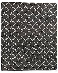 Moroccan Outdoor Rug Knotted Moroccan Tile Flatweave Outdoor Rug Charcoal Ivory