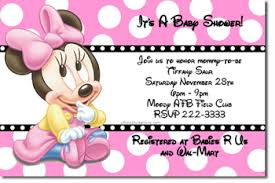 baby shower invitation cards minnie mouse baby shower invitations