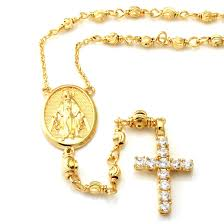 rosary necklace king 14k gold rosary necklace rosary jewelry king