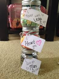 cute homemade candy jar presents for boyfriend boyfriend