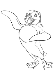 mighty sven happy feet coloring pages bulk color