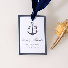 bridal shower favor tags nautical anchor wedding favor tag thank you labels ewfr019 as low