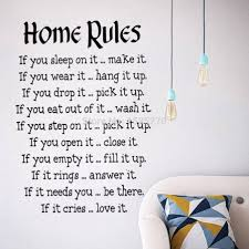 amazing wall stickers for home office home rules wall sticker wall