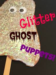 Halloween Ghosts Crafts by Mini Monets And Mommies Glitter Ghost Halloween Puppet