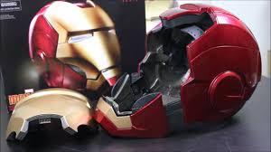 Iron Man Testing Marvel Legends 1 1 Iron Man Electronic Helmet Youtube