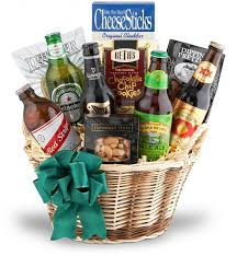 Birthday Gift Baskets For Men The Beer Basket Wine Baskets Featuring Tasty Snacks U0026