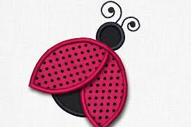 design embroidery 3d ladybug applique embroidery design b design bundles
