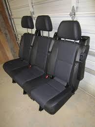 Sprinter Bench Seat 14 16 Mercedes Benz Sprinter Van 3 Passenger Black Leather Rear